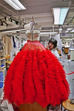 A glimpse into the workroom where the magic happens. Christian Dior Haute Couture Spring 2012 Preview.
