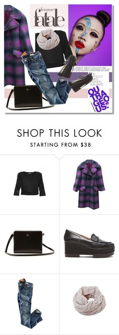 Fall time by vkmd on Polyvore featuring Yesimfrench, Vintage, H&M, Robert Clergerie, Lacoste, Humble Chic and Monday