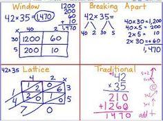 Leining& Longhorns: 2 digit by 2 digit Multiplication Strategies - Anchor Charts - Multiplication Strategies, Teaching Multiplication, Math Strategies, Math Resources, Teaching Math, Math Math, Math Games, Division Strategies, Math Fractions
