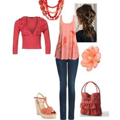 """""""Shades of Orange- Very Spring!"""" by amyjoyful1 on Polyvore"""