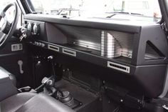 Totally bespoke, CNC'ed dash in Icon 4x4 Defender