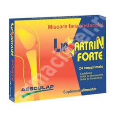 Lipoartrin Forte, 24 comprimate, Aesculap (pretul este pent :  Farmacia Tei Facial, Personal Care, Cover, Books, Pharmacy, Livros, Facial Treatment, Self Care, Facial Care