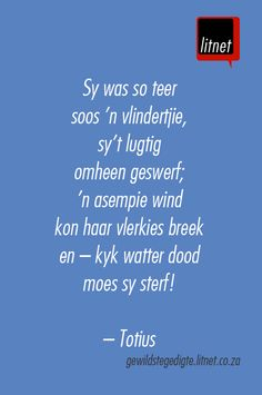 """O die pyn-gedagte"" deur Totius Beautiful Verses, Poetry Books, Afrikaans, Poems, Lyrics, Language, Writing, Sayings, Quotes"
