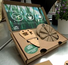 ooohh great packaging to start a little garden! Seed Wheel Exhibiting in London New Designers