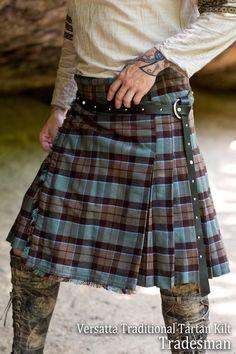 Custom Styled Versatta Cargo Kilt - Month Made to Order Kilt Belt, Kilt Skirt, Man Skirt, Tartan Men, Tartan Kilt, Plaid, Modern Kilts, Men Wearing Skirts, Leather Kilt