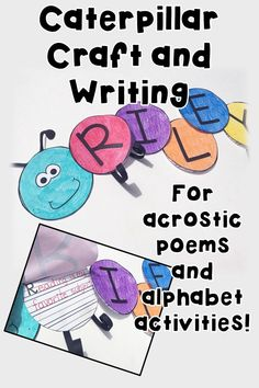 With this caterpillar craft and writing activity students can create name acrostics and other things using their names. Also can be used for alphabet activities, bulletin board headers and more!