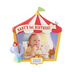 Babys 1st Birthday 2013 Hallmark Ornament >>> Don't get left behind, see this great  product : Ornaments Home Decor
