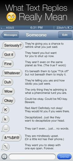 What text replies really mean.