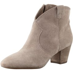 Ash Suede Low-Heel Ankle Boot ($220) found on Polyvore