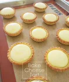 Lifestyle Desires and Indulgences Tart Recipes, Cheesecake Recipes, Baking Recipes, Cookie Recipes, Dessert Recipes, Cheesecake Tarts, Bake Cheese Tart, Cheese Tarts, Recipes
