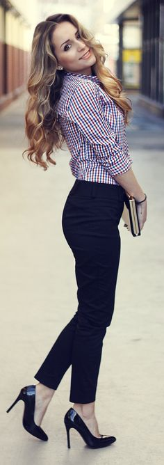 Multi Gingham Button Down