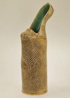 Really high-heeled Shoe Ceramic art by Kathy Hintz