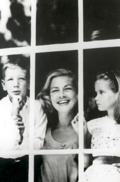 Lauren Bacall with her children Stephen and Leslie Bogart.