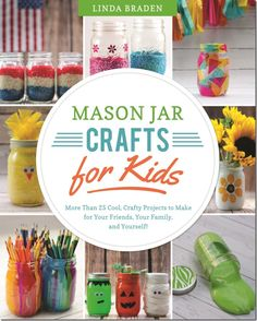 It's official. I'm a published author. Okay, soon-to-be-published author of a mason jar crafts for kids book.   That's right. That's my name up there. On the cover of my new book. A new book t...