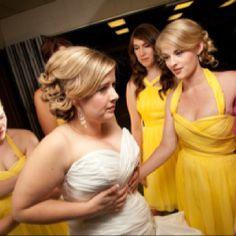 Yellow and gray wedding, Maggie sottero Jenna wedding dress