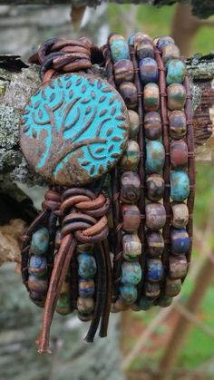 Check out this item in my Etsy shop https://www.etsy.com/listing/232501489/turquoise-tree-of-life-triple-layer