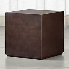 Patina Bronze Cube Table
