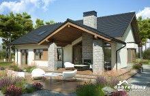 Miriam V - Dobre Domy Flak & Abramowicz Covered Deck Designs, Self Build Houses, Dream House Plans, Wooden House, Home Design Plans, Backyard Landscaping, Exterior Design, Magnolia, House Design