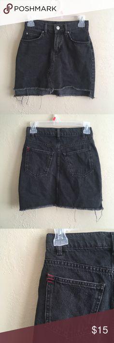 BDG Black Denim Mini Skirt XS - Black Denim - BDG BDG Skirts Mini