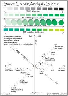 Smart Colour Analysis System - the principles. Discover your optimal value in lightness/darkness, optimal intensity of pigments, optimal warmness/coolness and choose optimal clarity of your colours - in one of main 4 chroma group - tints, tones, shades or hues (optimal purity of your colours). When you will understand and be able to recognized these 4 attributes in colours you will never fail! I shall give you your personal palettes for safe shopping. To face and far from face.