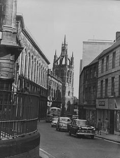 Groat Market, Newcastle upon Tyne Newcastle Cathedral, Somewhere In Time, North East England, Black And White Prints, Local History, Old Town, Vintage Photos, Street View, The Incredibles