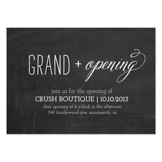 12 great grand opening invitation wording ideas koolsoundz grand opening chalkboard design by simple te design simple business card hair salons stopboris Gallery