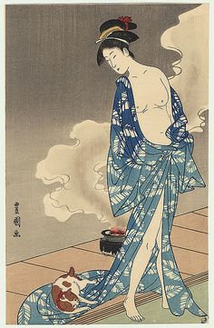 COURTESAN AND CAT | Toyokuni I