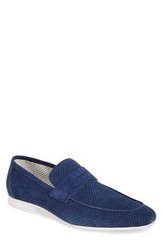 Carlo Pazolini Nubuck Penny Loafer (Men) available at #Nordstrom