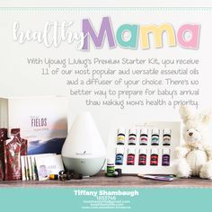 Make your health a priority while you await the arrival of your baby! Begin with the Premium Starter Kit from Young Living! You can even add products for your little one.  Go to my website www.lovetheoilylife.com and click on become a member, from there it will take you directly to Young Livings Website where you will choose your kit.  Distributor # 1853746  Premium Starter Kit | new mom | pregnancy | Babies and oils | Young Living | Healthy mom