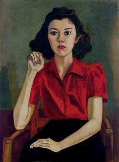 Alice Neel, Portrait of Roberta Johnson Roensch, 1943