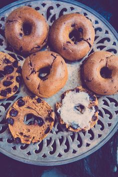 Pumpkin Chocolate Chip Mini Bagels! - Brittany Angell