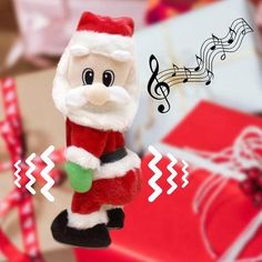 BABBO NATALE DANZANTE 2020 Great Christmas Presents, Christmas Crafts, Christmas Decorations, Christmas Ornaments, Santa Claus Toys, Dancing Santa, Toys For 1 Year Old, Secret Santa Gifts, Cookies Et Biscuits