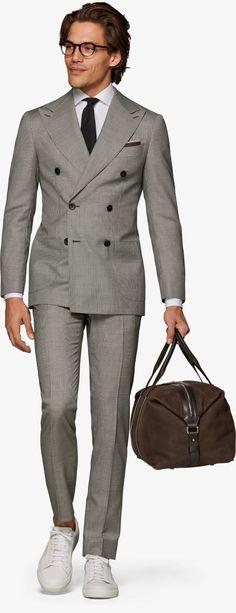 Anzug Mittelgrau Hahnentritt Havana P6042 | Suitsupply Online Store