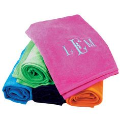 Bright Terry Beach Towels | Southern Glam Monogram