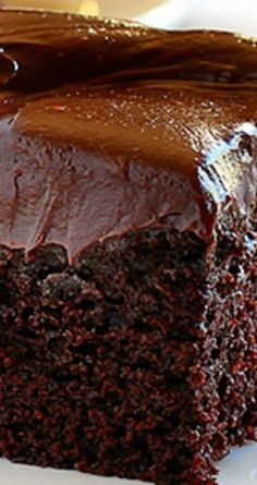 Chocolate Craving Cake ~ This perfectly proportioned cake will definitely satisfy every single craving.