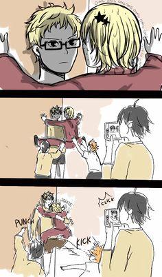 yachi & tsukishima i don't ship them but this is too funny!