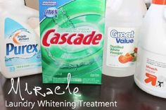 Miracle Laundry Whitener Uses 4 Ingredients