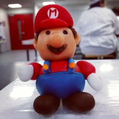 Quick 5 minute task at college to create a figure. Super Mario Figure