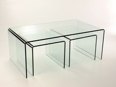Acrylic Coffee Table with Matching Stools