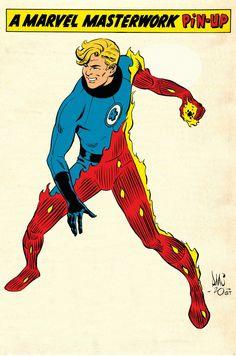 Heroes Peter, Marvel Masterworks, Superman, Human Torch, Fantastic Four, Marvel Heroes, Comic Books, Comic Art, Avengers