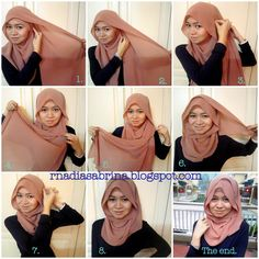 """Simple instructional """"how to"""" style a hijab"""
