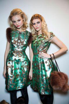 Magdalena Frackowiak & Maryna Linchuk Backstage, Issa F/W 2012