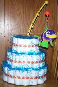 fishing diaper cakebaby shower gift boy or girl