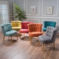 Found it at Wayfair - Leudelange Claudia Tufted Side Chair Pink tufted accent chair - 21 Gorgeous Feminine Home Decor Ideas Accent Chairs For Living Room, Living Room Furniture, Home Furniture, Living Room Decor, Furniture Design, Online Furniture, Furniture Outlet, Modern Furniture, Colorful Furniture