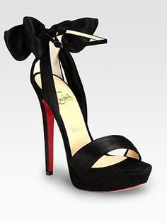 my obsession with bows continues. -- Christian Louboutin Satin and Suede Bow Platform Sandals christian louboutin shoes heels Crazy Shoes, Me Too Shoes, Dream Shoes, Red Bottoms, Christian Louboutin Shoes, Louboutin Pumps, Stilettos, Wedding Shoes, Bridal Shoes