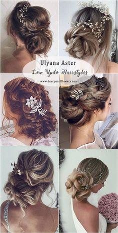 Ulyana Aster Low Updo Wedding Hairstyles #weddings #weddingideas #weddnghairstyles #hairstyles ❤️ http://www.deerpearlflowers.com/ulyana-aster-wedding-hairstyles-2/