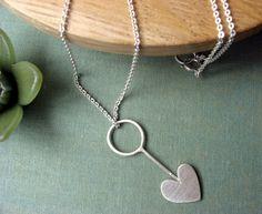 Arrow heart Sterling silver Necklace. $35.00, via Etsy.