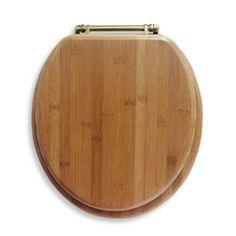 Ginsey Round Bamboo Toilet Seat - BedBathandBeyond.com