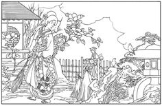 Color Your Own Japanese Woodblock Prints (Dover Art Coloring Book)