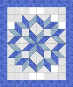 Image result for carpenter's star quilt pattern king size